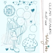 STARRY BIRTHDAY Clear Stamp Set from Tiddly Inks