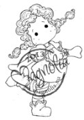 New! TILDA LONGSTOCKING Rubber Stamp Once Upon a Time Collection from Magnolia