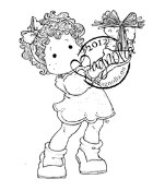 TILDA WITH A GIFT FOR YOU Rubber Stamp Turning Leaves Collection from Magnolia