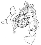 TILDA WITH DOT BOW Rubber Stamp With Love Collection from Magnolia