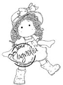 TILDA WITH RUBBER BOOTS Rubber Stamp Butterfly Dreams Collection from Magnolia