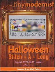 Halloween Stitch-A-Long Mystery Series - PART 1 Cross Stitch Chart from Tiny Modernist