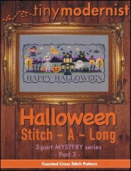 Halloween Stitch-A-Long Mystery Series - PART 3 Cross Stitch Chart from Tiny Modernist