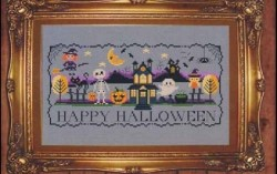 Halloween Stitch-A-Long Mystery Series - COMPLETE SERIES - Set of 4 Cross Stitch Charts from Tiny Modernist