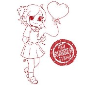 TONI HEART BALLOON Rubber Stamp from Make It Crafty