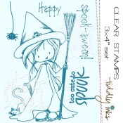 TOO CUTE TO SPOOK Clear Stamp Set from Tiddly Inks