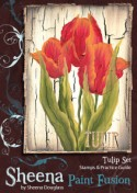 TULIP Stamp Set Sheena Douglass Paint Fushion Collection from Crafter's Companion