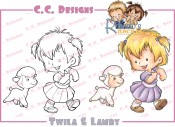 TWILA & LAMBY Rubber Stamp Roberto's Rascals Collection from C.C. Designs