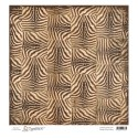 VINTAGE ZEBRA PATTERN 12x12 Heavyweight Cardstock Animal of the Year Collection from Magnolia