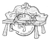 New! VINTAGE SWEDISH BENCH Rubber Stamp Once Upon a Time Collection from Magnolia