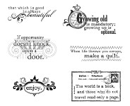 VINTAGE VERSES Stamp Set Lizzie Anne Designs from Gourmet Rubber Stamps