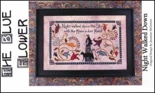 NIGHT WALKED DOWN Counted Cross Stitch Pattern from The Blue Flower
