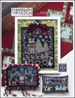 Farm House Chalk Series - HOLLY JOLLY FARM Cross Stitch Pattern from Hands On Design