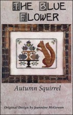 AUTUMN SQUIRREL Counted Cross Stitch Pattern from The Blue Flower