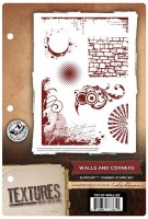 WALLS AND CORNERS - EzMount Rubber Stamp Set Textures Artist Collection from Crafter's Companion