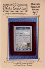 Monthly Sampler Series APRIL Cross Stitch Pattern from Waxing Moon Designs