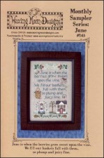 Monthly Sampler Series JUNE Cross Stitch Pattern from Waxing Moon Designs