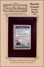 Monthly Sampler Series MARCH Cross Stitch Pattern from Waxing Moon Designs