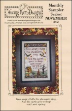 Monthly Sampler Series NOVEMBER Cross Stitch Pattern from Waxing Moon Designs