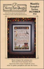 Monthly Sampler Series OCTOBER Cross Stitch Pattern from Waxing Moon Designs