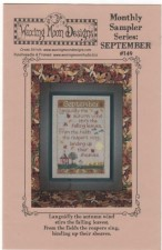 Monthly Sampler Series SEPTEMBER Cross Stitch Pattern from Waxing Moon Designs