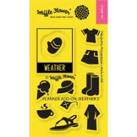 WEATHER 2 Clear Stamp Set from Waffle Flower Crafts