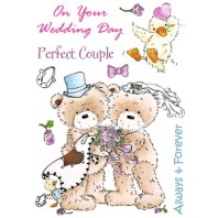 WEDDING DAY Popcorn the Bear Stamp Set from Crafter's Companion
