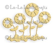 WHIMSICAL FLOWERS BUNCH Die from La La Land Crafts