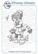 FLORALINE Rubber Stamp Little Cottage Cuties Collection by Elisabeth Bell from Whimsy Stamps