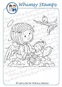 ANGELICA Rubber Stamp Wee Stamps Collection from Whimsy Stamps