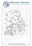 BIRTHDAY BABY BOY Rubber Stamp Wee Stamps Collection from Whimsy Stamps