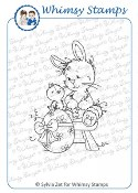 EASTER BUNNY Rubber Stamp Wee Stamps Collection from Whimsy Stamps