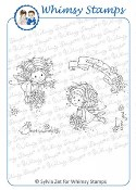 FLOWER FAIRIES Rubber Stamp Wee Stamps Collection from Whimsy Stamps