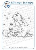LET IT SNOW Rubber Stamp Wee Stamps Collection from Whimsy Stamps