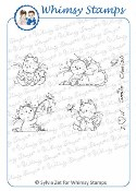 PLAYFUL KITTENS Rubber Stamp Wee Stamps Collection from Whimsy Stamps