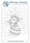 XMAS HAMSTER Rubber Stamp Wee Stamps Collection from Whimsy Stamps