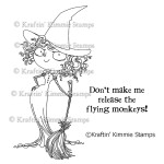 WICKED WITCH Rubber Stamp Moonlight Whispers Wizard of Oz Series by Annie Rodrigue from Kraftin Kimmie Stamps