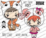 WILD CHILD Rubber Stamp Set Wild Sprouts Collection from The Greeting Farm