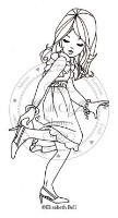 WILLOW DRESSING UP Rubber Stamp Elisabeth Bell Collection from Whiff of Joy