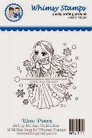 WINTER PRINCESS Rubber Stamp Art by Miran Collection from Whimsy Stamps