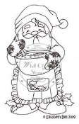BAKING SANTA Rubber Stamp Elisabeth Bell Collection from Whiff of Joy