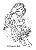 FREEZING WILLOW Rubber Stamp Elisabeth Bell Willow & Oakley Winter Collection from Whiff of Joy
