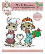 BETTY AND HENRY WINTER MICE Rubber Stamp Henry The Mouse Collection from Whiff of Joy