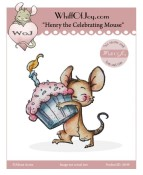 HENRY CELEBRATING MOUSE Rubber Stamp Party Animals Collection from Whiff of Joy