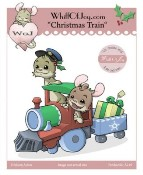 CHRISTMAS TRAIN Rubber Stamp Henry The Mouse Collection from Whiff of Joy