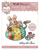 EASTER EGG ART Rubber Stamp Henry The Mouse Collection from Whiff of Joy