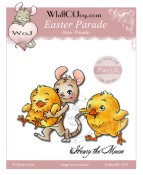 EASTER PARADE Rubber Stamp Henry The Mouse Collection from Whiff of Joy