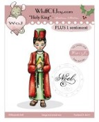 HOLY KING Rubber Stamp Elisabeth Bell Collection from Whiff of Joy