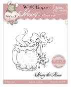 MINI HENRY WITH LARGE CUP Rubber Stamp Party Animals Collection from Whiff of Joy