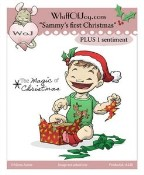 SAMMY'S FIRST CHRISTMAS Rubber Stamp from Whiff of Joy